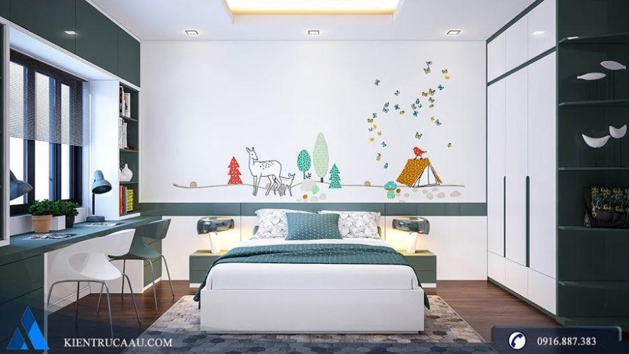 Thiết kế phòng ngủ đẹp cho bé trai căn hộ Golden Palace