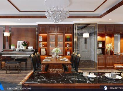 Phòng bếp căn hộ Royal City – Golden Palace