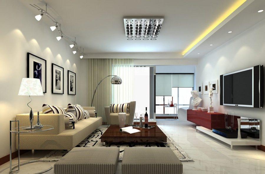phong cách phòng khách hiện đại