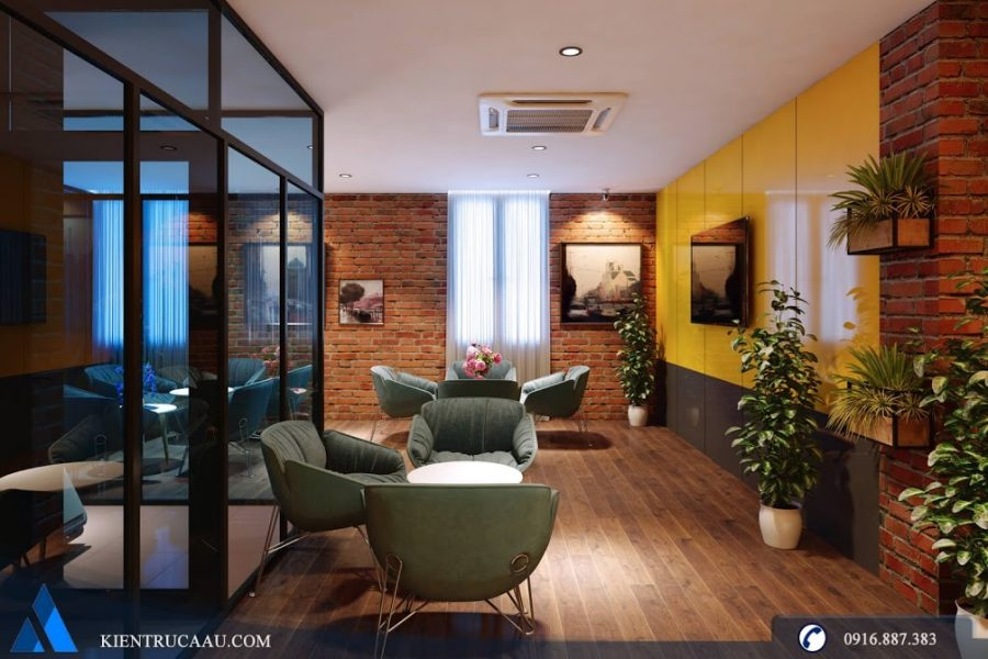 phòng chờ khách vip sử dụng sàn gỗ