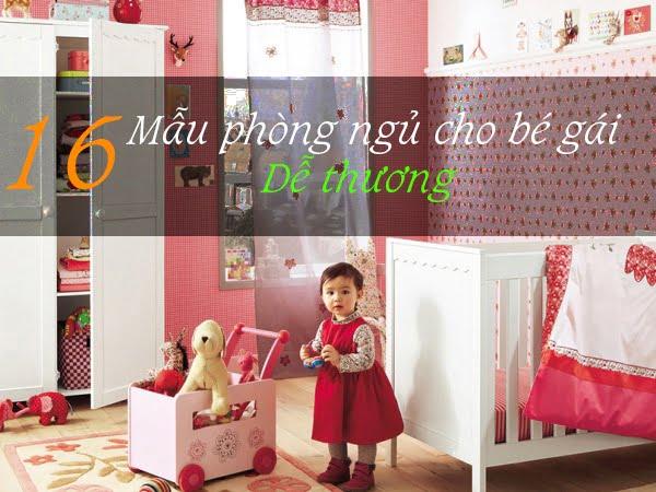 16 mẫu Phòng ngủ cho bé gái đẹp màu hồng dễ thương
