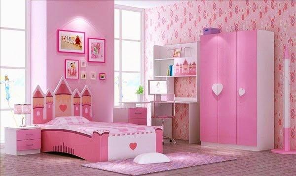 Phòng ngủ cổ tích cho bé gái dưới 6 tuổi
