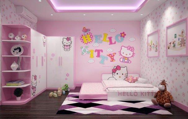 Căn phòng Hello Kitty nhiều bé thích nhất