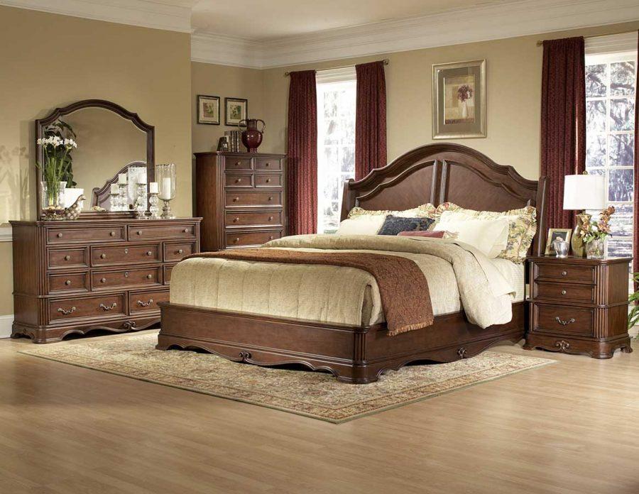 phòng ngủ tông màu gỗ nâu