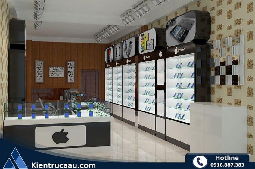 Thiết kế cửa hàng điện thoại Istore