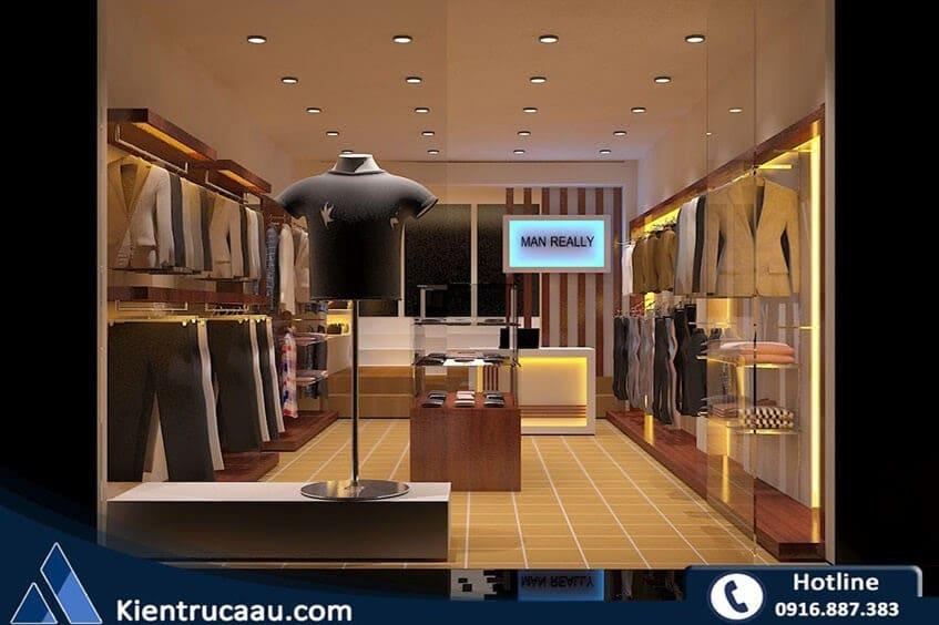 Thiết kế cửa hàng thời trang nam Man Really