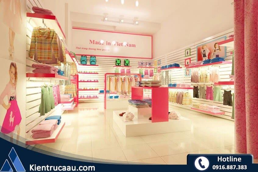 Thiết kế cửa hàng thời trang trẻ em Made in Việt Nam