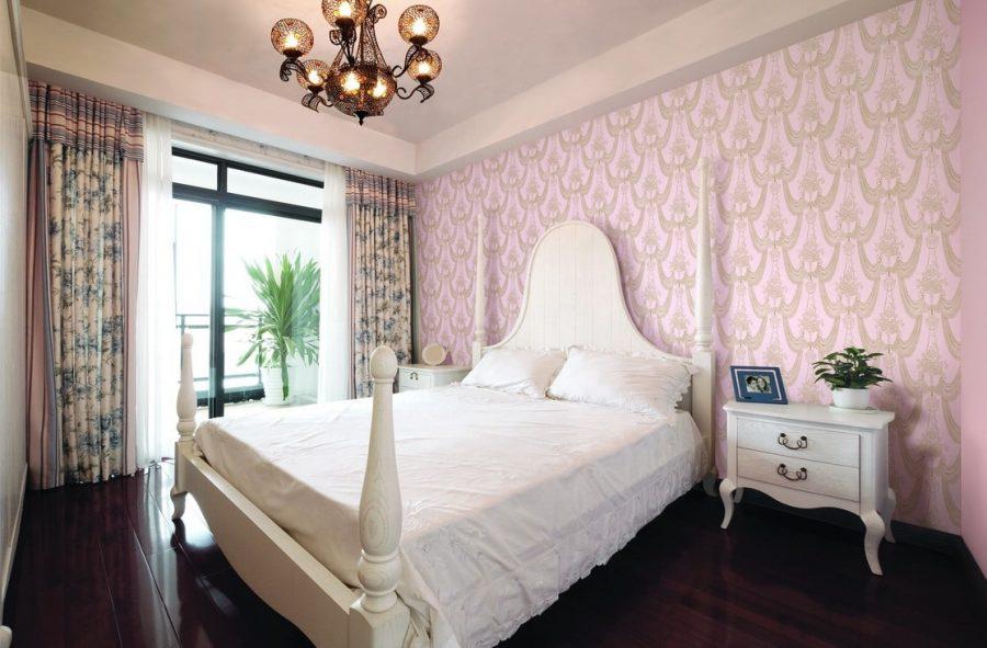 trang trí giấy dán tường phòng ngủ