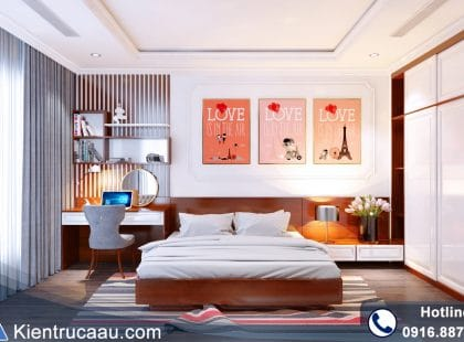 Phòng ngủ con căn hộ Royal City – Golden Palace
