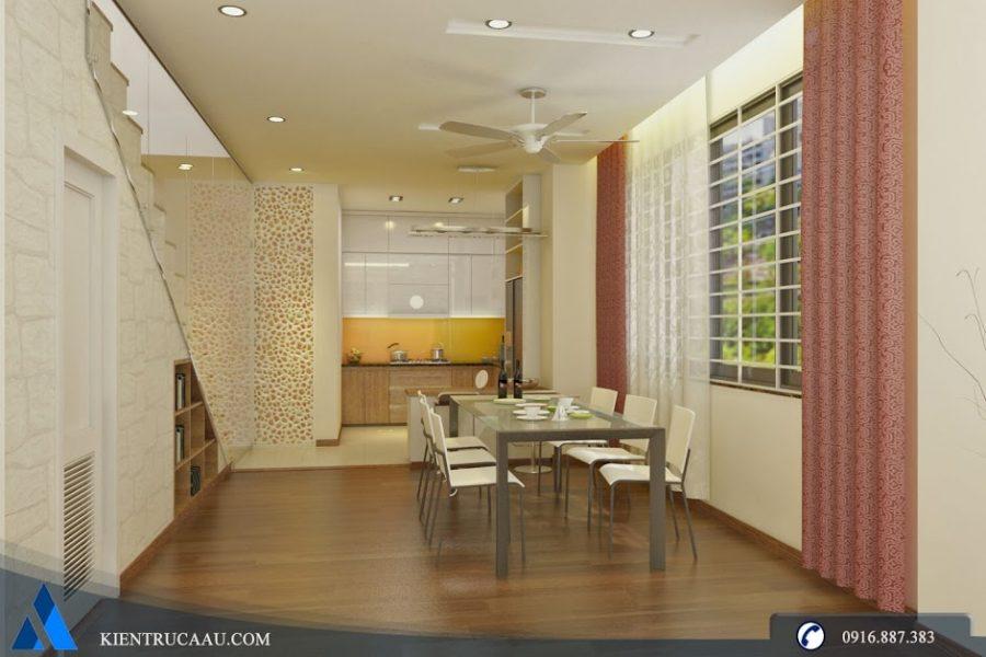 Không gian phòng bếp rộng rãi tiện nghi