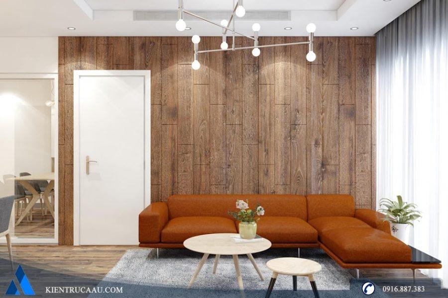 Không gian phòng khách ấm áp