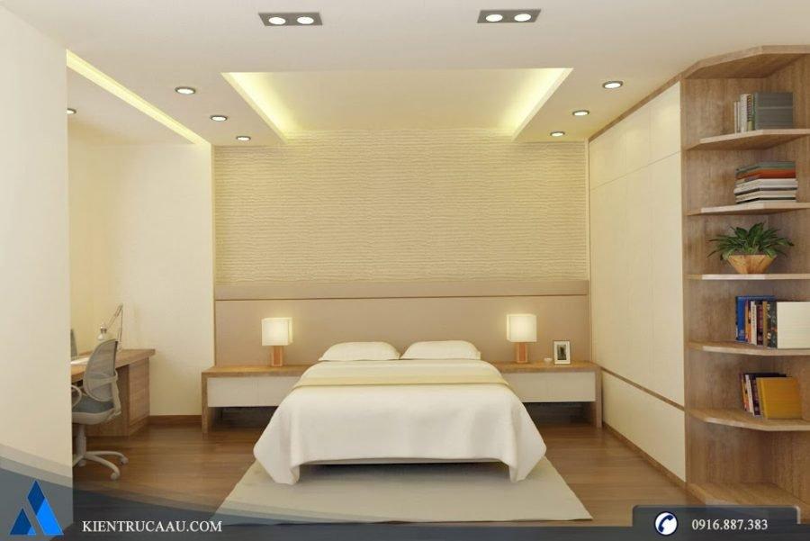 Không gian phòng ngủ ấm áp gọn gàng