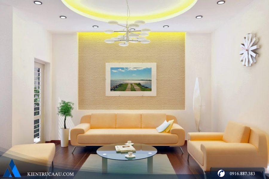 phòng khách ấm áp tràn đầy ánh sáng