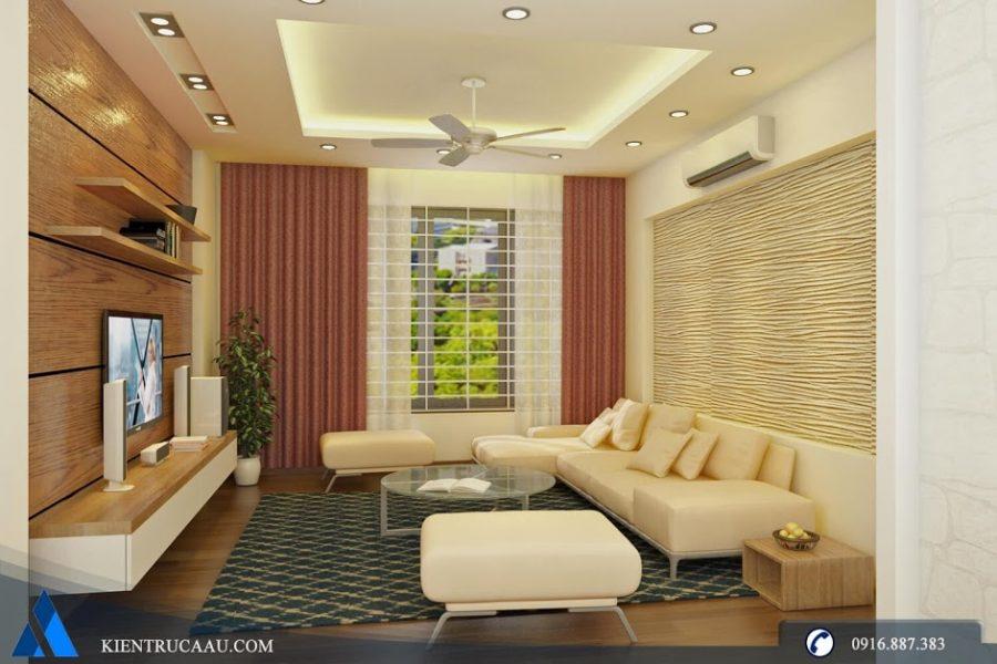 Phòng khách được thiết kế cách điệu