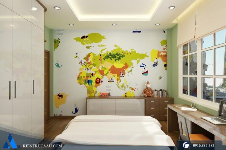 Phòng ngủ con trai sáng tạo