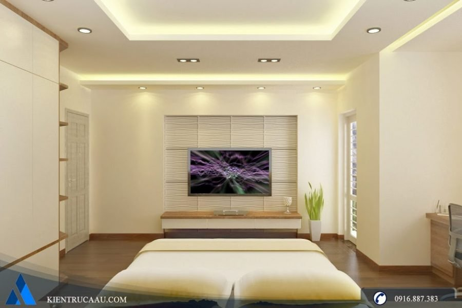 phòng ngủ master đơn giản đầy đủ tiện nghi