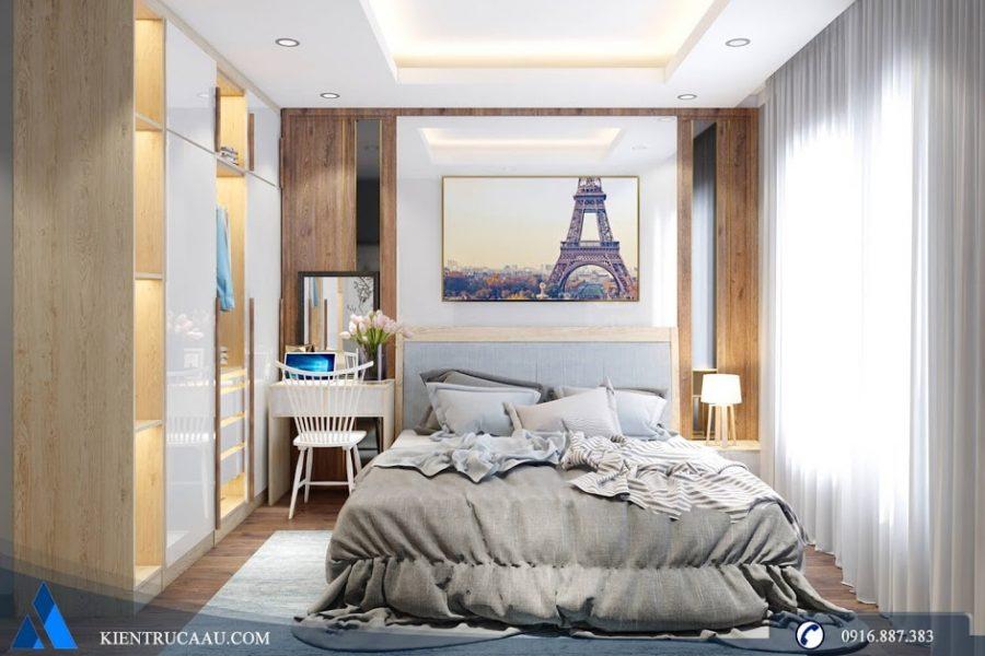 Phòng ngủ master được bài trí tinh tế