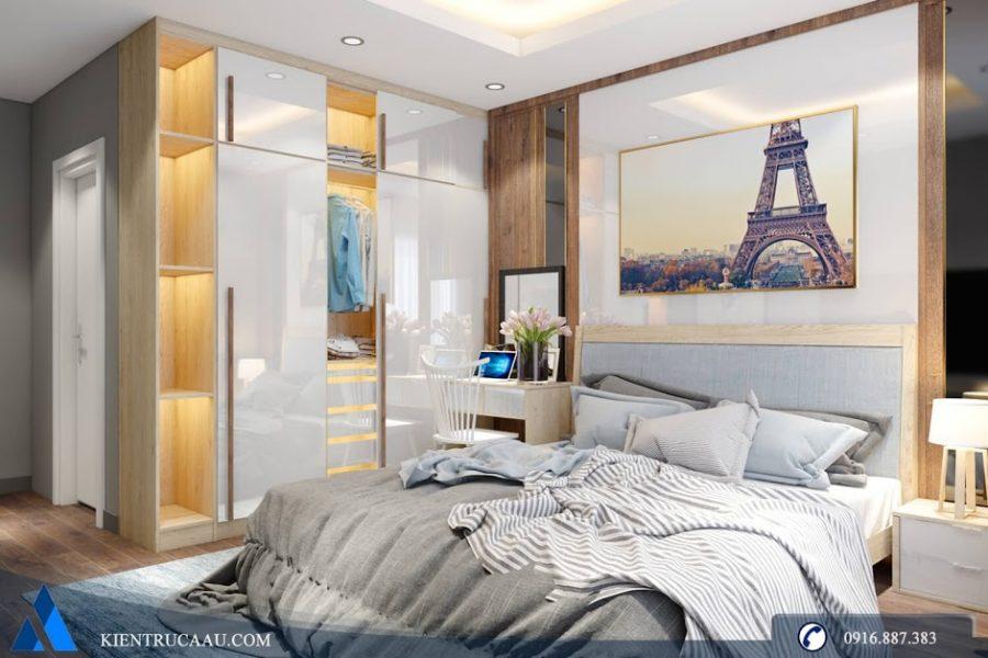 Tủ quần áo sử dụng gỗ Acrylic bóng sáng