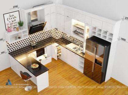 Phòng bếp nhà anh Minh