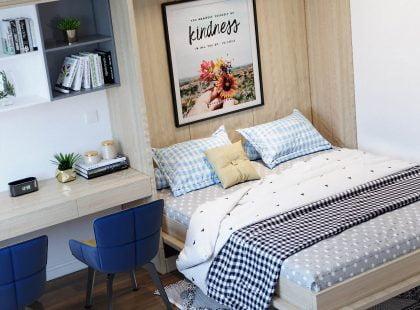 Phòng ngủ nhà chị Nhung