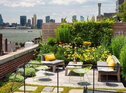 Bố trí vườn trên sân thượng