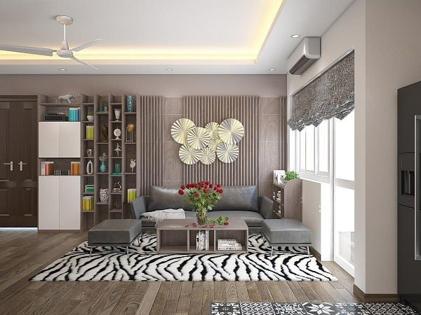 Thiết kế nội thất chung cư 82m2 2 phòng ngủ