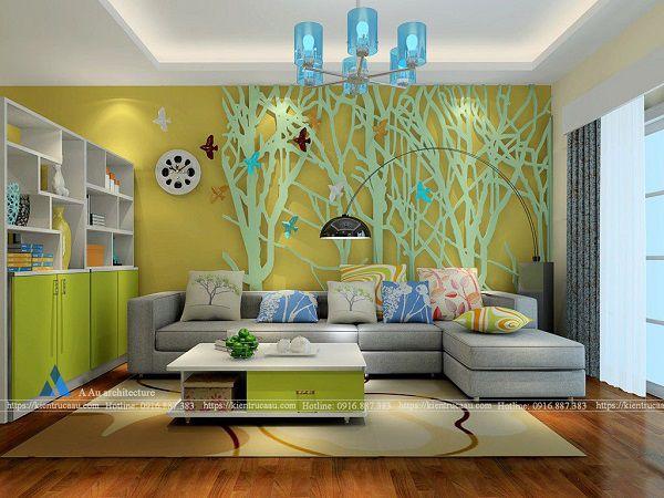 Thiết kế phòng khách mệnh Mộc