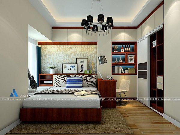 Thiết kế phòng ngủ làm việc